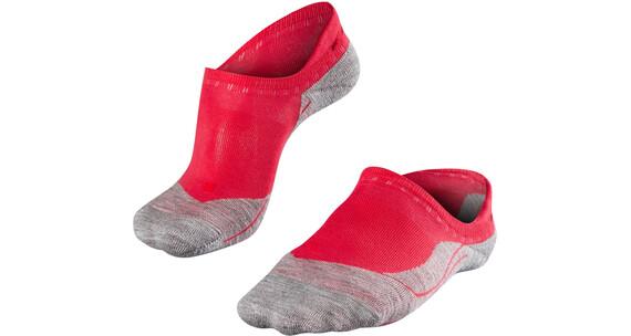 Falke RU4 Invisible Skarpetki do biegania Kobiety szary/czerwony